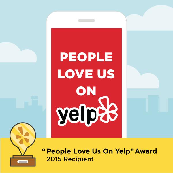 2015 People Love Us On Yelp Award